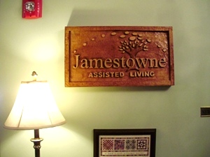 Jamestowne Assisted Living Sign