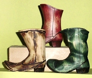 Hand Carved Boot Collection