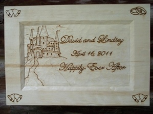 Hand Carved and Wood Burned Wedding Plaques