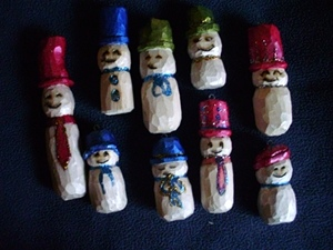 Hand Carved Snowman Collections