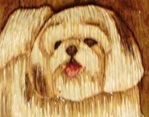 Hand Carved Shih Tzu Puppy sold
