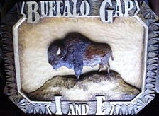 Hand Carved Buffalo Sign