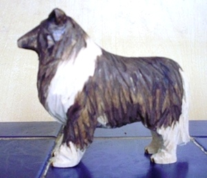 Hand Carved Collie