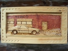 Hand Carved Gas Stations