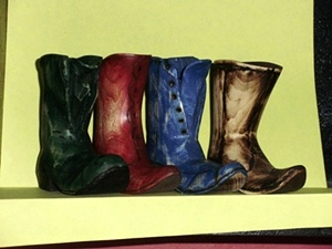 Hand Carved Boots