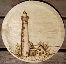 Wood Carving of an Old Light House