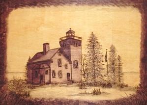 Light House #2 Wood Burning