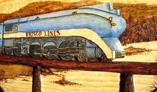 Hand Carved Frisco Locomotive 1026  SOLD