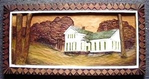 Wood Carving Grandma's House