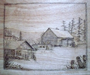 Wood Burned Out Buildings