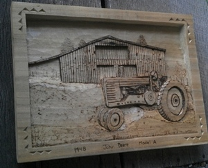 Hand Carved Tractors