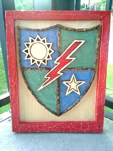 Hand Carved Military Badges and Plaques