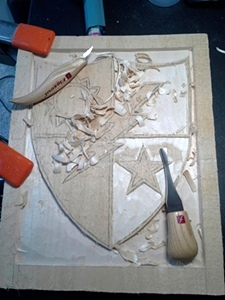 Hand Carved Army Ranger Badge