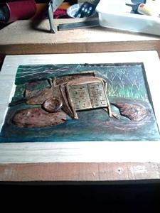 The International Swamp | Hand Carved International Truck in Swamp