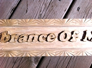 Hand Carved  Message
