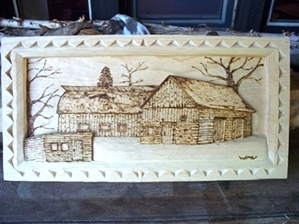 Deep Relief Carving Barn and Shed