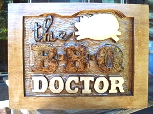 Hand Carved Sign | The BBQ Doctor