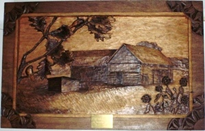 Hand Carved Barns and Sheds