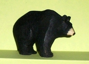 Wood Carving of a Black Bear