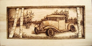 Hand Carved Truck