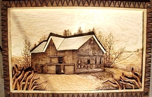 Hand Carved Kentucky Barn