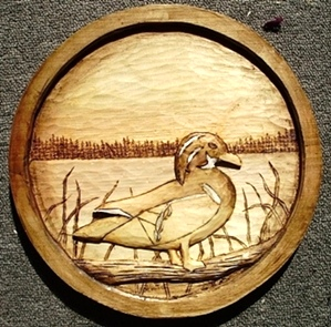 Hand Carved Wood Duck 2