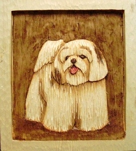 Hand Carved Shih Tzu Puppy sold