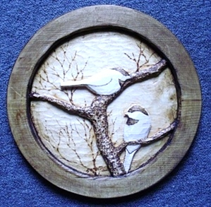 Hand Carved Chickadees