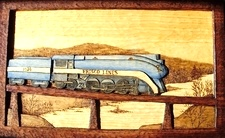 Hand Carved Frisco Locomotive 1026