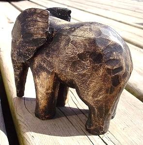Hand Carved Elephants-
