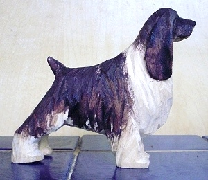 Hand Carved Spaniel