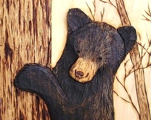 Hand Carved Bear Cub