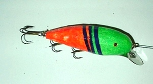 Hand Carved Fishing Lures: M10324