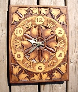 Han Carved Relief  Clock