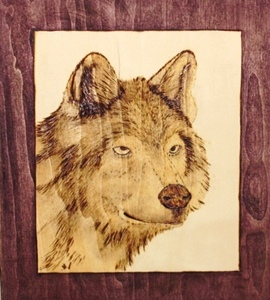 Wolf Wood Burning