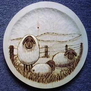 Hand Carved Sheep