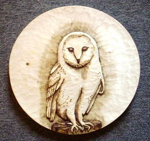 Hand Carved Barn Owl