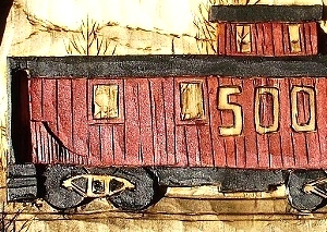Hand Carved Caboose