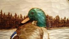 Hand Carved Mallard Duck Relief