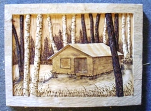 Hand Carved Hunting Camp