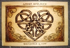 Hand Carved Celtic Knot Plaque