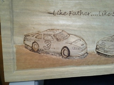Like Father Like Son      NASCAR Carving