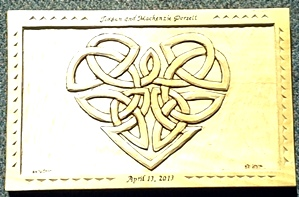 Hand Carved Celtic Heart