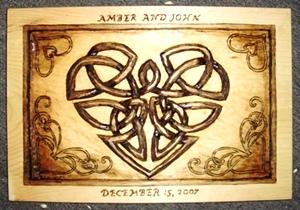 Hand Carved Celtic heart
