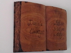 Hand Carved Open Book