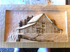 Hand Carved Old Hay Barn
