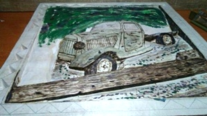 Old Farm Truck | Hand Carved Deep Relief Old Truck on the farm