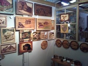 wood carving displays