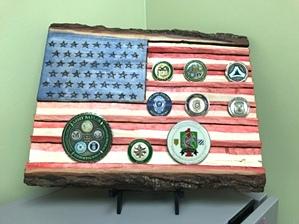 American Flag Coin Holder