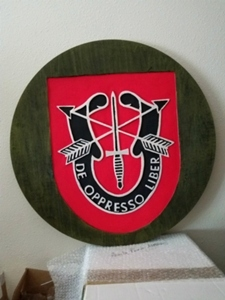 Hand Carved Army Badge